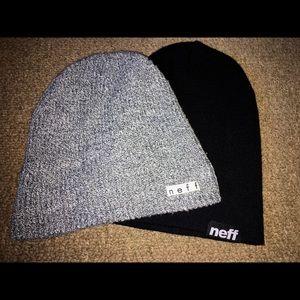 Black and Gray Neff Beanies